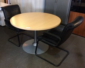 TABLE RONDE STEELCASE 1100MM