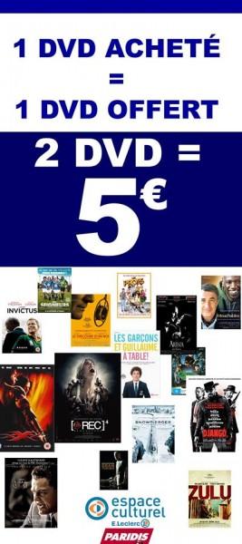 1 DVD Acheté - 1 DVD offert