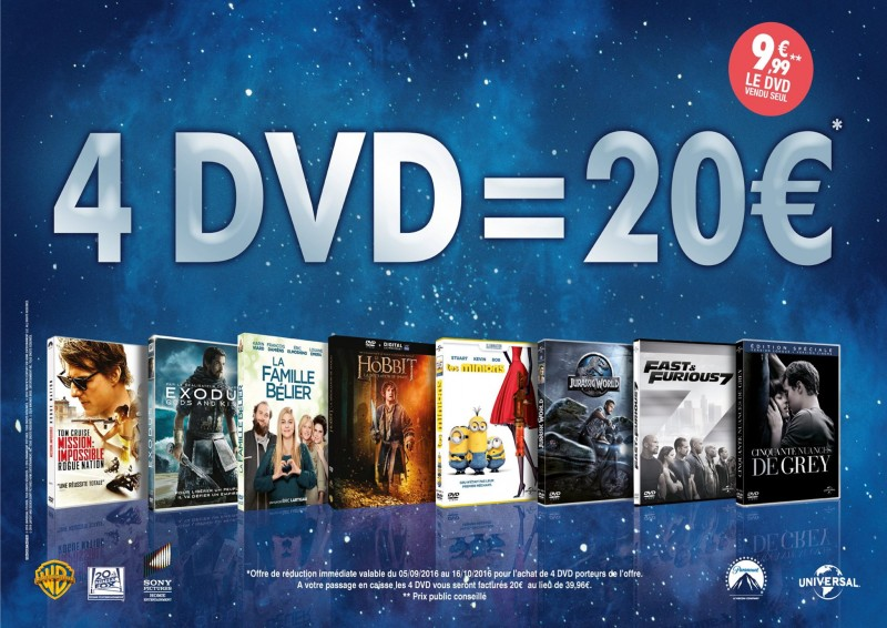 4 DVD = 20€