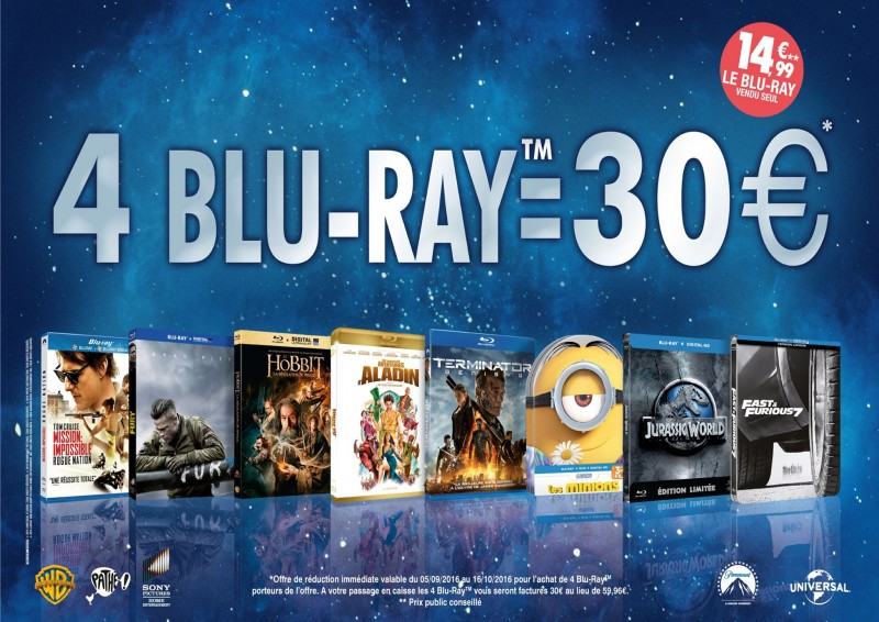 4 Blu-Ray = 30€