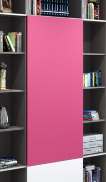 SLIDE Salon Taupe & Fuchsia