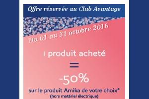 -50% Sur un produit Amika*