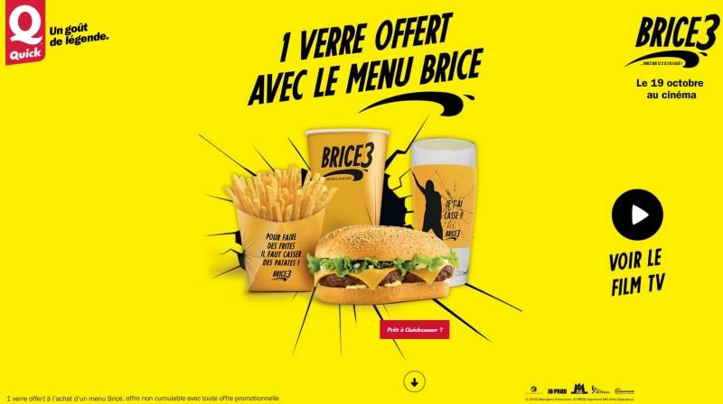 1 verre offert avec le menu Brice de Nice