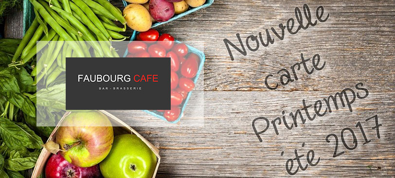 Nouvelle carte Faubourg Café