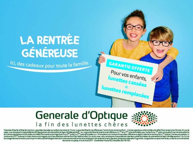 CHEZ GENERALE D'OPTIQUE, LA RENTREE EST GENEREUSE !