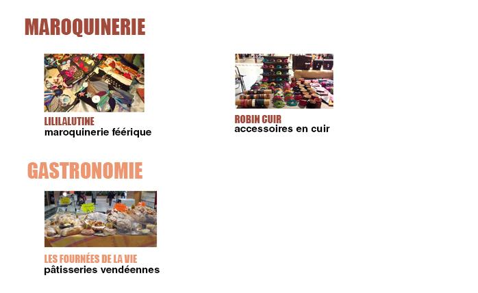 Exposants maroquinerie et gastronomie