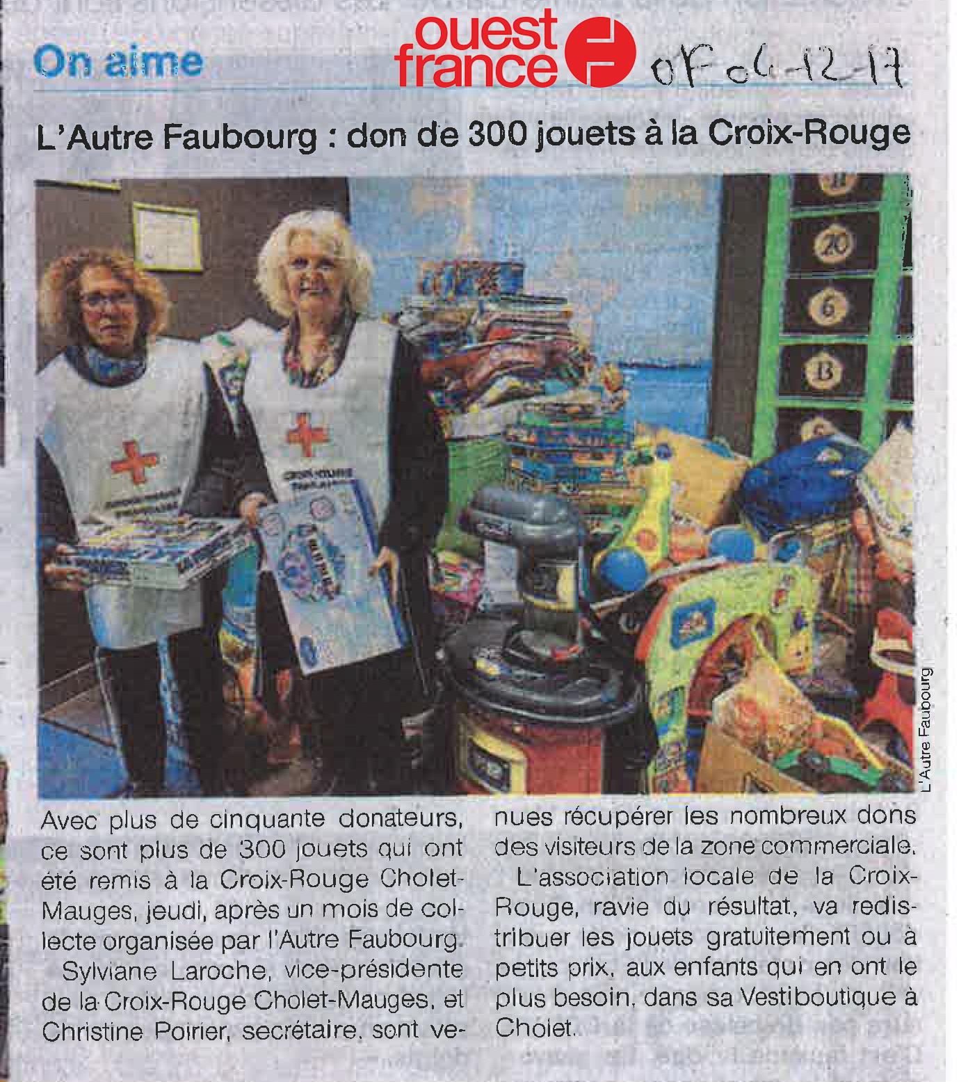 OF04122017 - L'Autre Faubourg - don de 300 jouets à la Croix Rouge