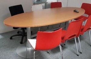 TABLE OVALE WERNDLE POIRIER CLAIR L2000MM