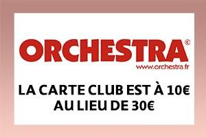 La carte club est à 10€ au lieu de 30€