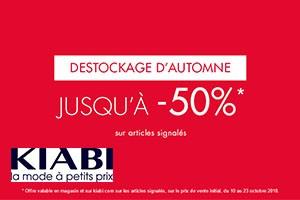 Destockage d'automne : jusqu'à -50% !