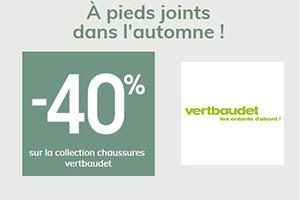 -40% sur la collection chaussures !