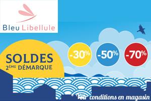 Soldes Bleu Libellule